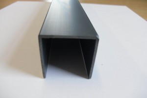 U section capping profile for plastic panels