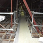 Plastic Panels used as flooring in Blackpool Church Loft