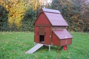 Chicken House made by www.markfrancis.co.uk from Click & Fix Plastic Panels